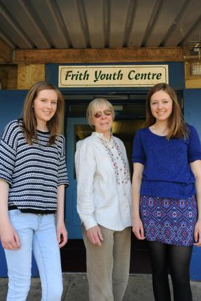 Secretary at Frith Youth Club Susan Newson (centre) with sisters Emma (left), 13, and Kate Jones, 18, who are trying to save it from closure