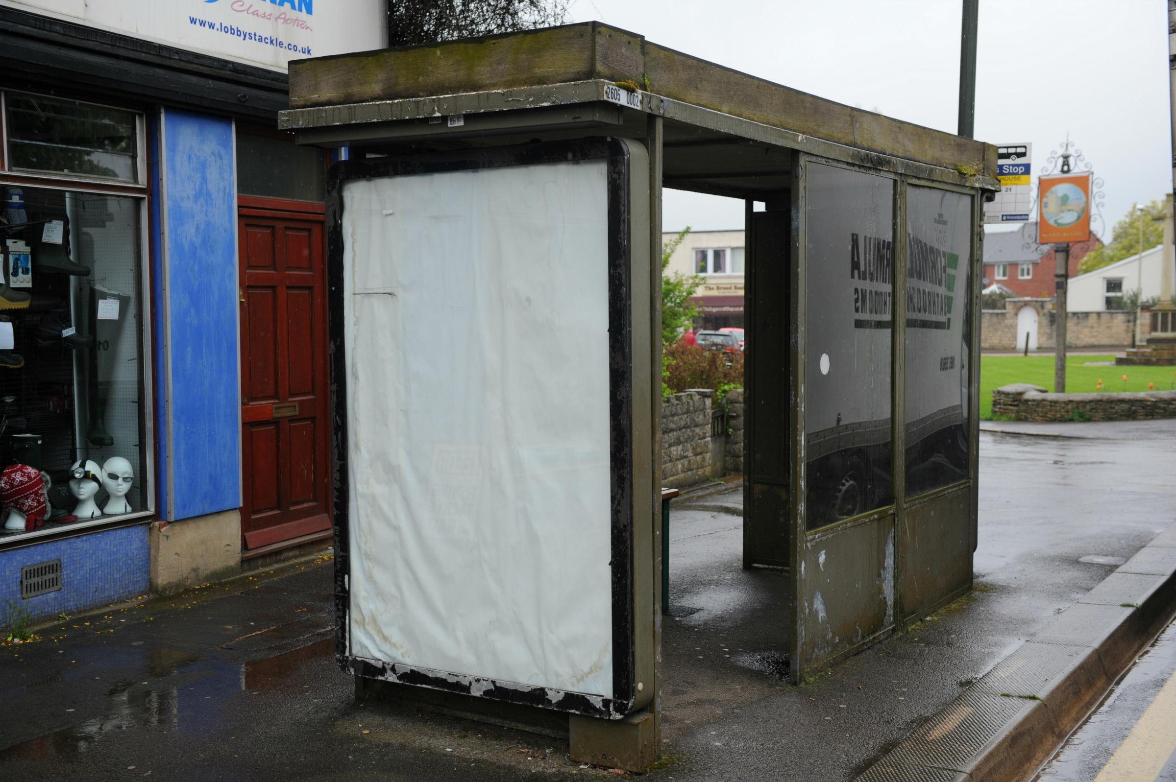 No replacement but a revamp for three bus shelters