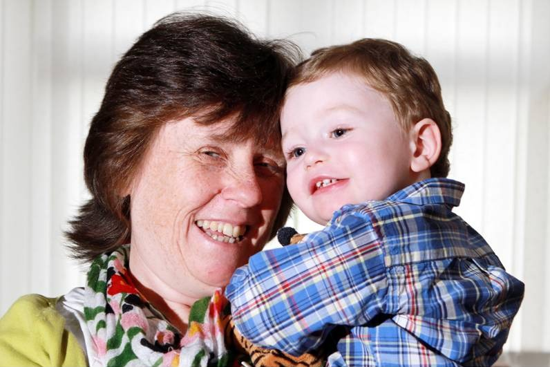 Angela Pearce, with her grandson Spencer, who will be raising money for Cotswold Care Hospice in memory of her 26-year-old daughter Vicky (5857911)