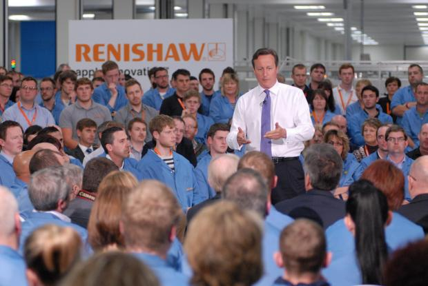Cameron visit - PM speaks to Renishaw workers and answers questions