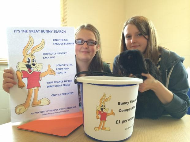 Bunny Search organisers Martha Hopes, left, and Grace Averiss – raising the profile of Rabbit Awareness Week.