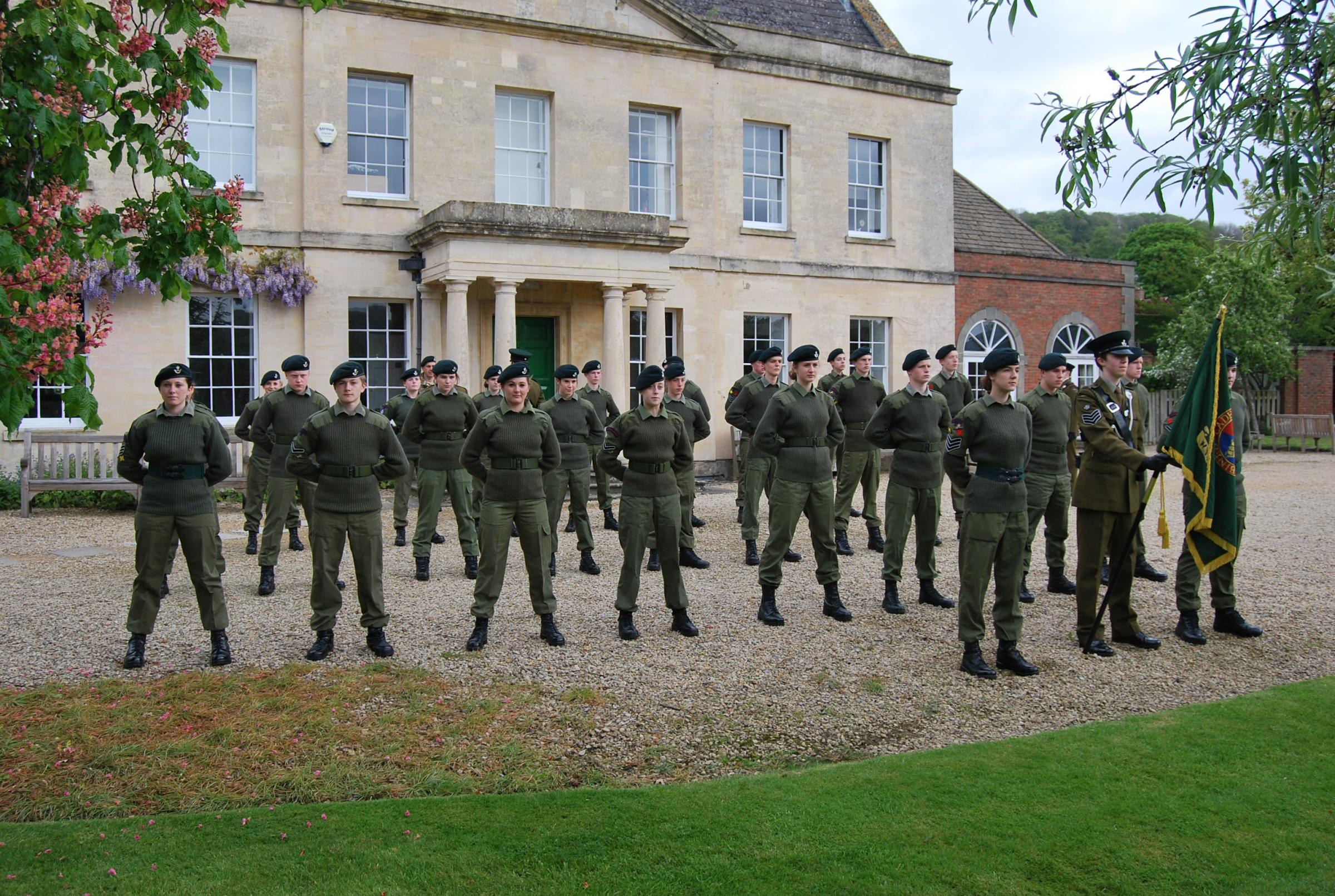 Cadets at Wycliffe College receive inspection