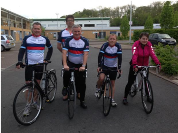 Office staff saddle up for Help for Heroes ride