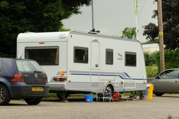 Travellers move onto playing fields in Stonehouse