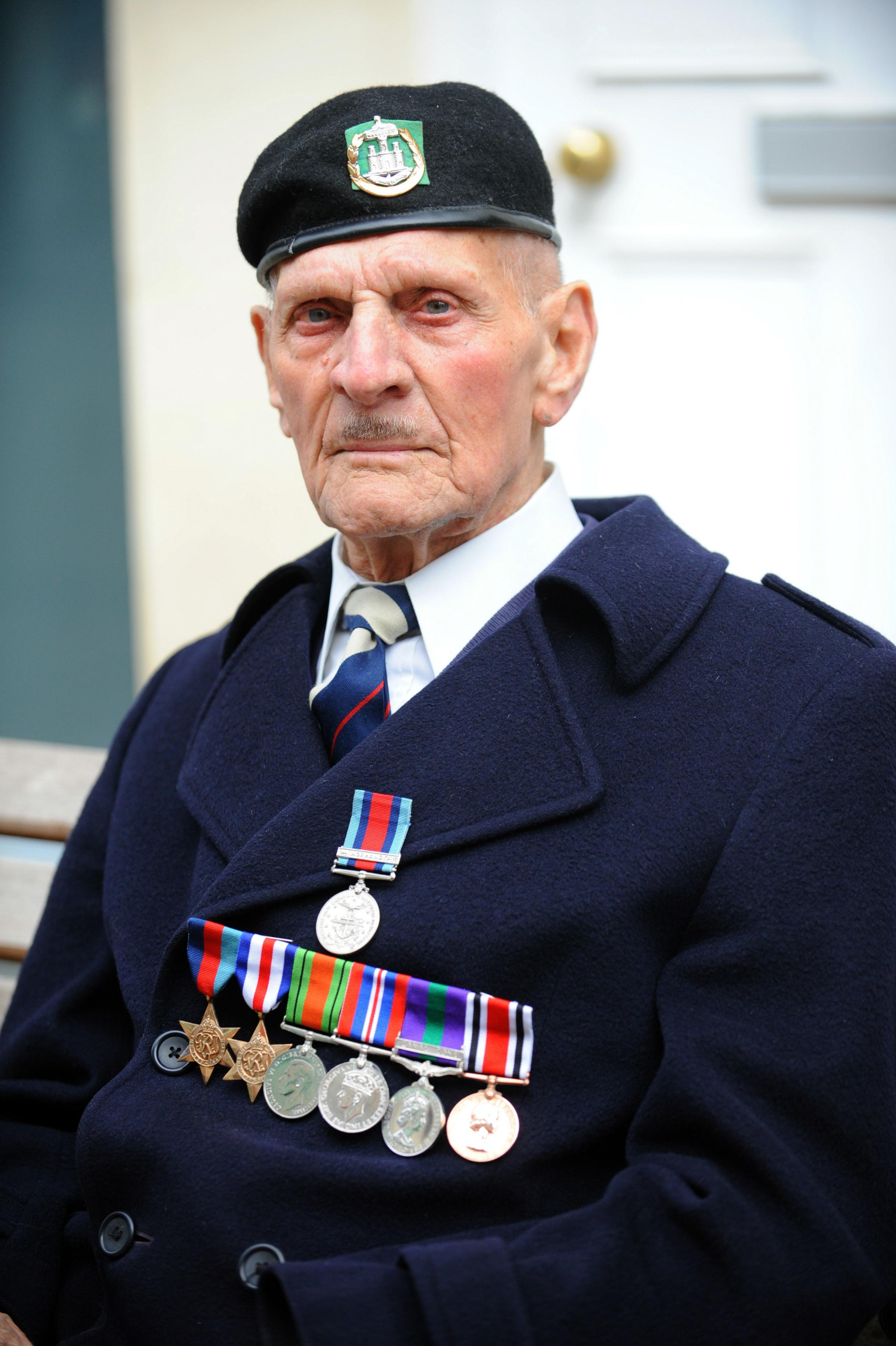 Ivor Adams, 89, one of the many war veterans who landed in Normandy on D-Day