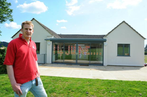 Andy Harding outside the new Painswick youth club pavilion