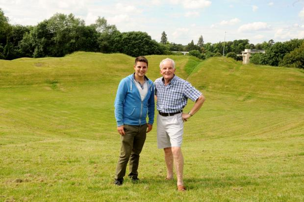 Cllr Joe Harris (left) and Cllr Nigel Robbins at the Roman Amphitheatre in Cirencester