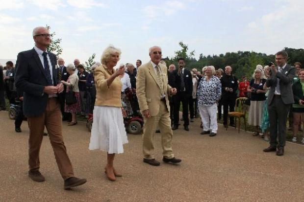 The Duchess of Cornwall arrives at Westonbirt Arboretum