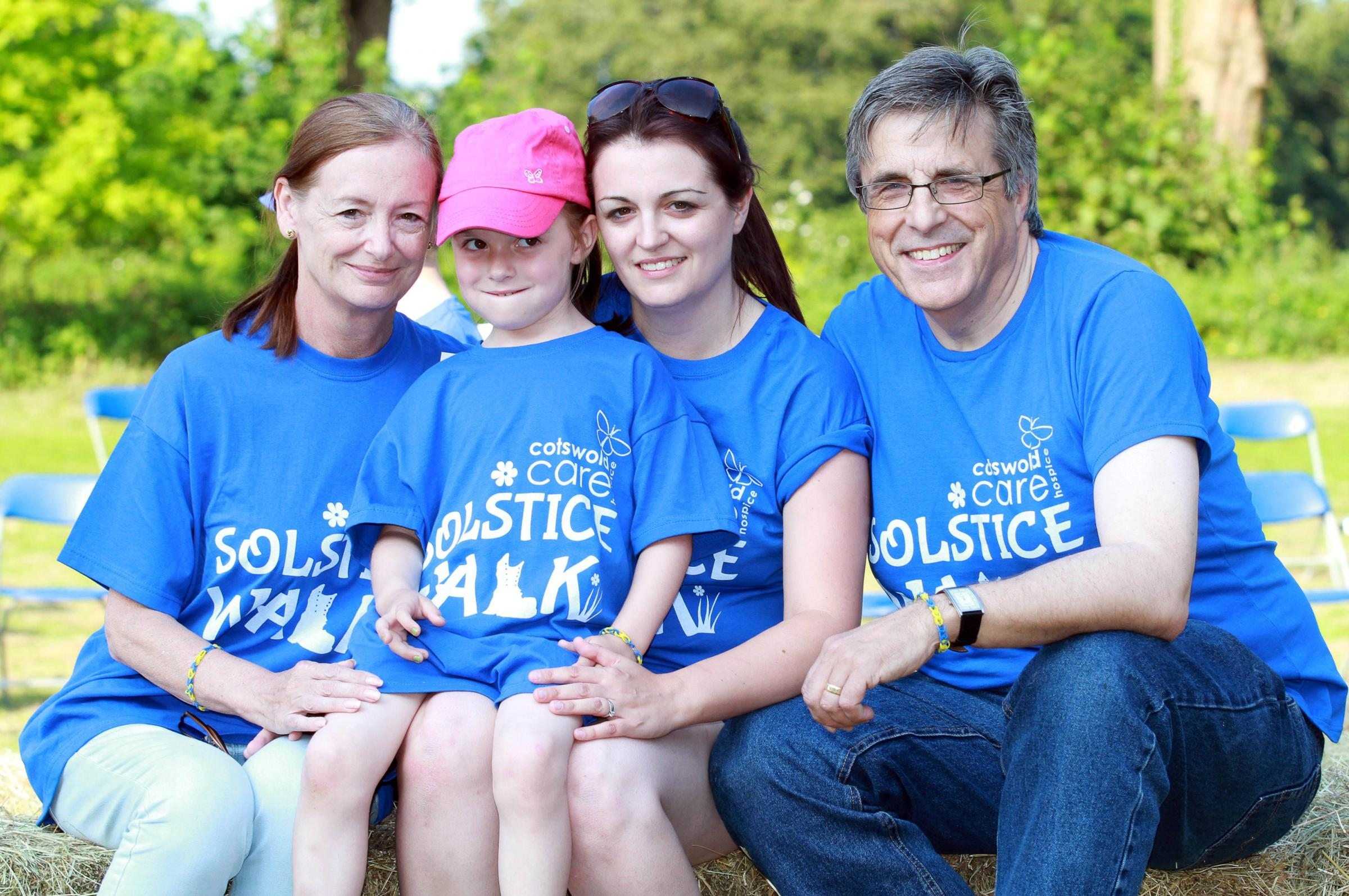 (l-r) Maggie Sage, Ellie Naulls, five, Laura Naulls and John Sage.  Picture by Carl Hewlett/TWM - Thousand Word Media Ltd