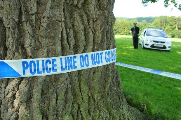 Stroud News and Journal: The police cordon in Stratford Park wher