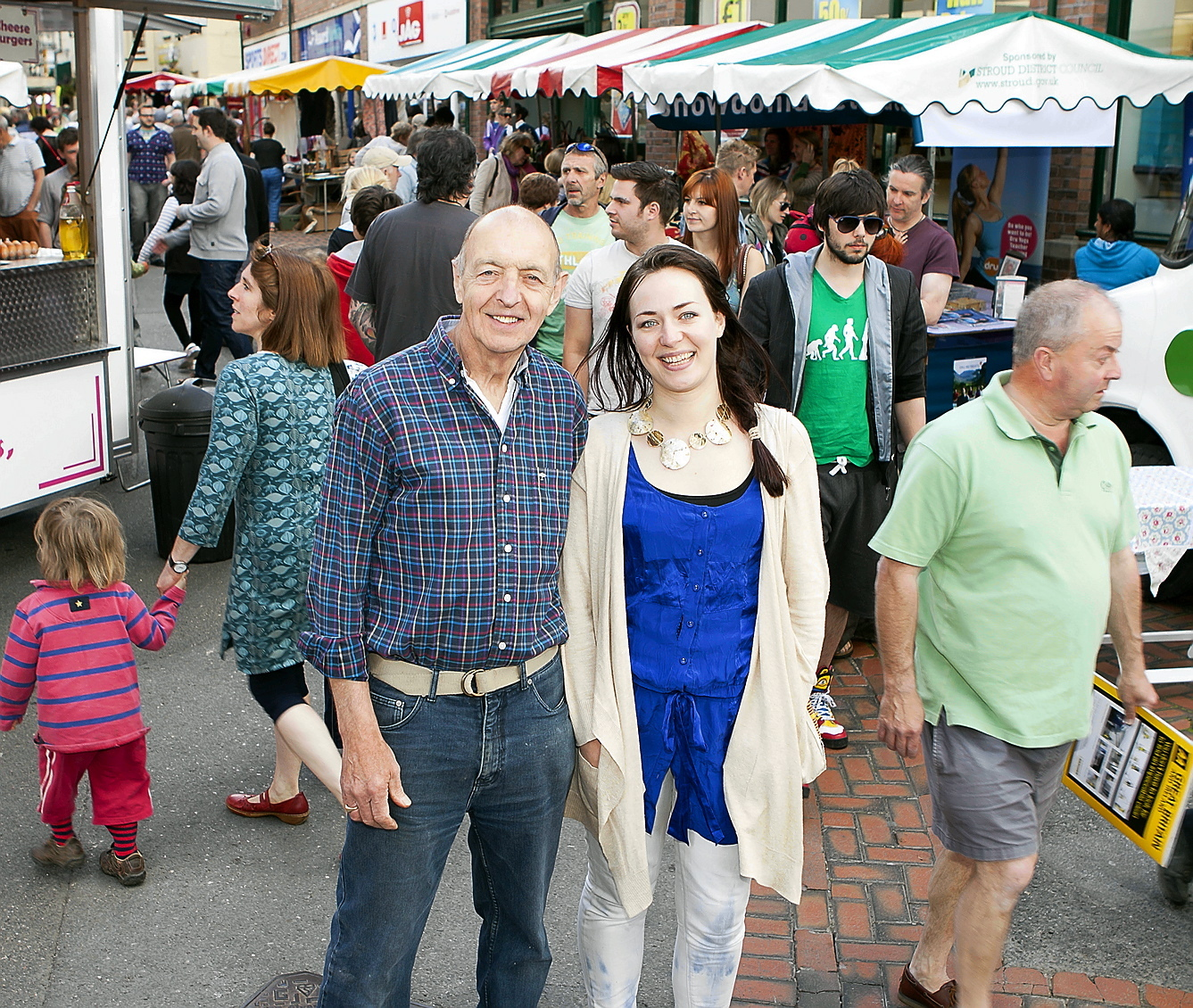 (l-r) Organisers of Stroud Sunday Market Terry Trimmer and Katherine Bryan-Merrett. Unfortunately as a result of an increasingly busy schedule Mr Trimmer has been forced to end the monthly market (7735731)