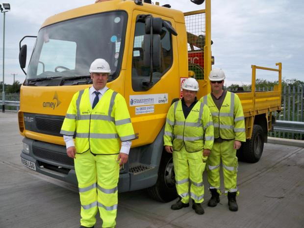 Members of Gloucestershire County Council's Highways team who respond to complaints about potholes