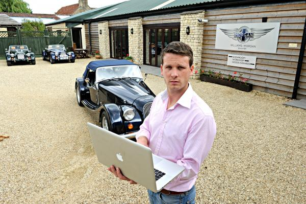 Henry Williams of Williams Automobiles in Horton frustrated at the company's broadband service