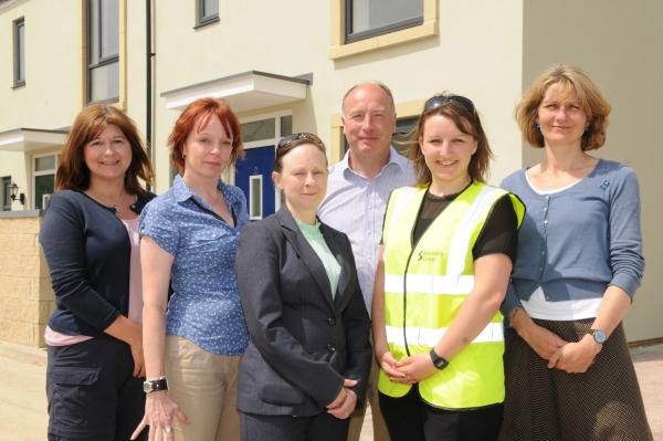 Councillors tour freshly opened multi-million pound Minchinhampton housing development