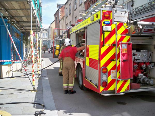 Firefighters called to flat in Church Street, Stroud