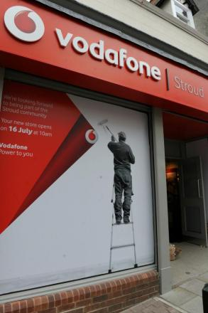 Mobile phone giant Vodafone is opening a new store in Stroud High Street today, Wednesday, in the unit left vacant when Curry's closed