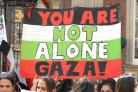 Vigil for Gaza in Stroud High Street on Saturday