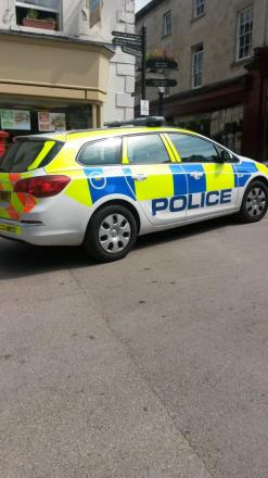 Police seal off the Shambles in Stroud