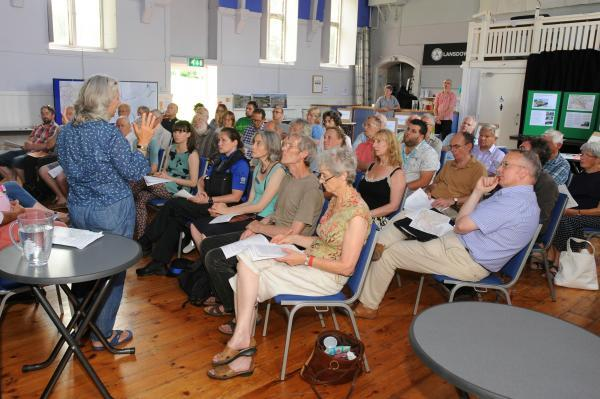 Details of the Town Centre Neighbourhood Plan were outlined at Lansdown Hall