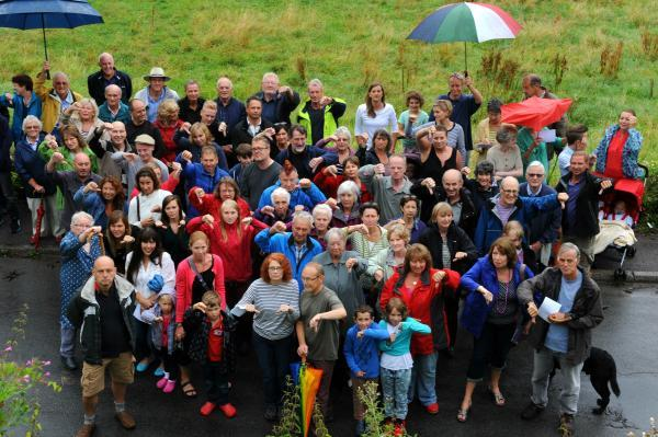 Dozens of residents turned out on Saturday to show the strength of feeling against plans by Newland Homes for 17 properties on a greenfie