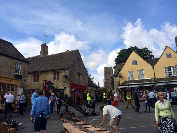 Filming has been going on all this week in Northleach - photo by Paul Hodgkinson