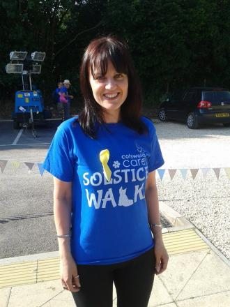 Caroline Wilkes will complete a 12,000ft tandem free fall sky dive in support of the Cotswold Care Hospice later this year  (9185585)