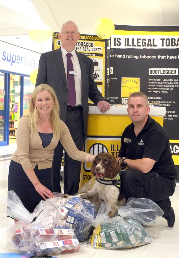 Illegal tobacco and counterfeit cigarettes worth around £3,000 seized from shops during awareness event