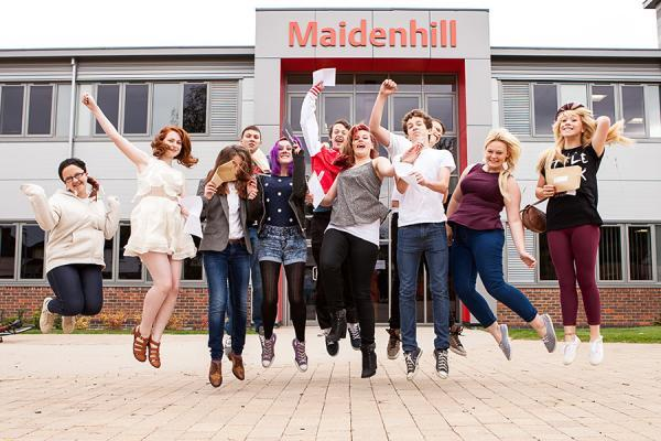 Maidenhill students celebrate fantastic exam results