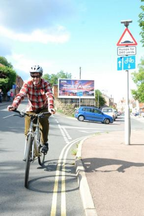 Cyclists raise concerns over Lansdown road signs