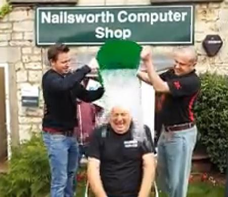 District councillor Steve Robinson takes on ice bucket challenge