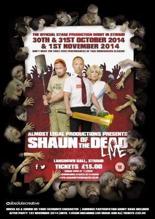 A poster produced by Stroud theatre company Almost Legal Productions advertising their Shaun of the Dead show (9812966)