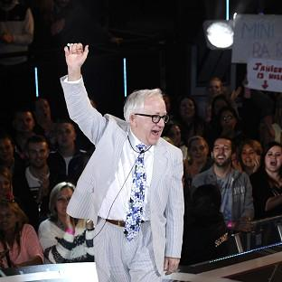 Channel 5 handout photo of Leslie Jordan as he is evicted from the Celebrity Big Brother house, at Elstree Studios, Borehamwood.