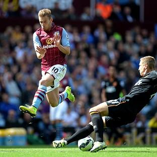 Andreas Weimann, left, scored Aston Villa's second goal against Hull