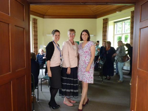 (l-r) Kirsten Fruin, from the Office of the Police and Crime Commissioner (OPCC); Sue Black, Friends for You co-ordinator and Kate Darch, Glos Rural Community Council at the launch of the new initiative (9853602)