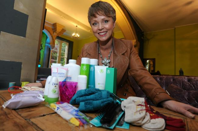 Berith Sandgren-Clark is going to Manila in the Philippines on Valentine's Day next year to take supplies to women and their families who live and work on rubbish dumps in the country. She is appealing for donations of hygiene products