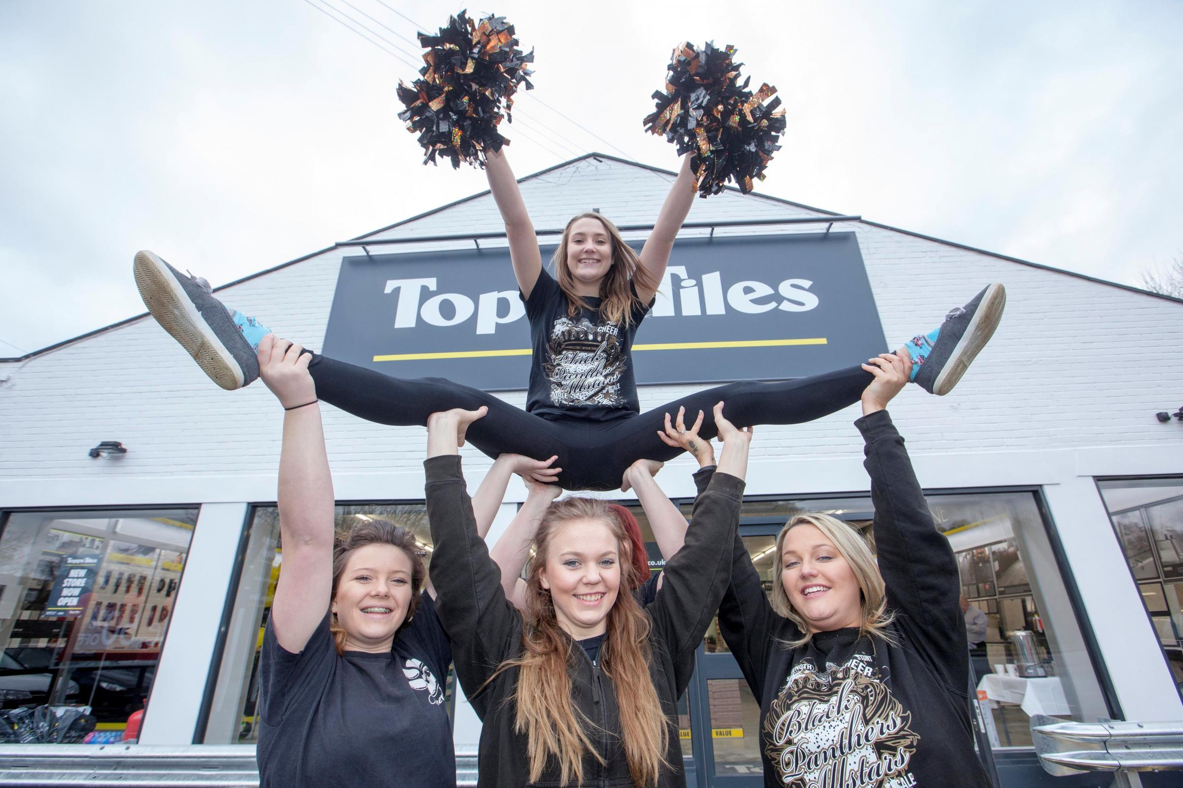 Spirits raised high at Topps Tiles
