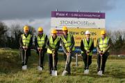 Sartorius Stedim Biotech bosses cut the first turf at their HQ at Stonehouse Park