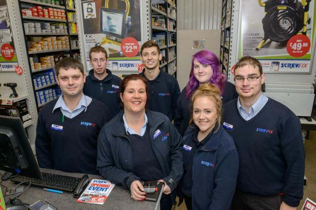 The team at Stroud's new Screwfix