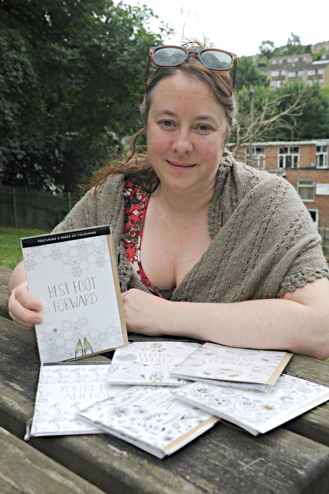Stroud illustrator sees her greeting card designs in whsmith and illustrator tasha goddard with cards that are available in whsmith and tesco stores reheart Images