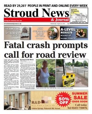Stroud News and Journal: This week's front page –Calls to review safety of busy Stonehouse junction after crash claims…