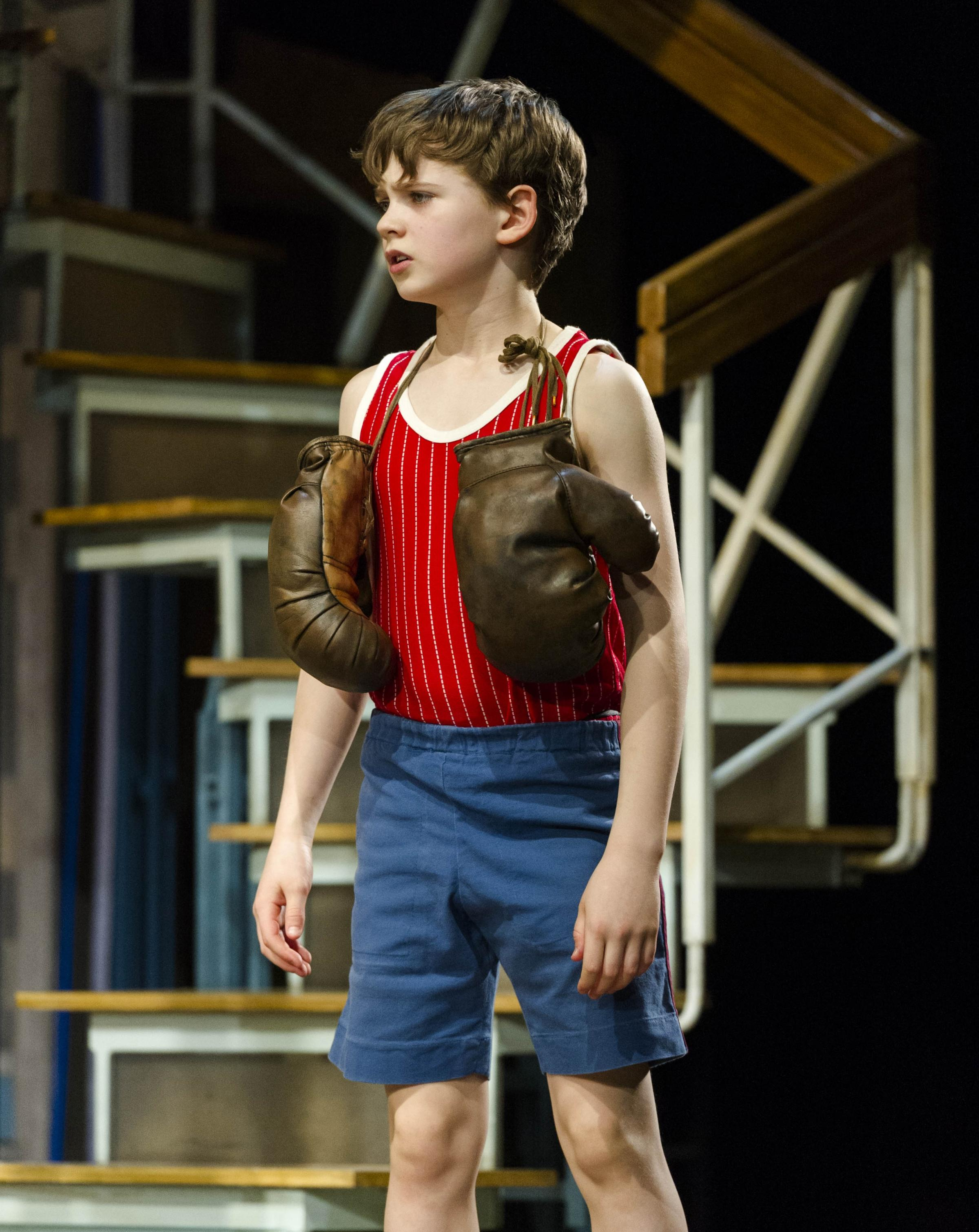 Haydn May as the boxer turned ballet dancer Billy Elliot