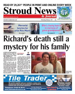 Stroud News and Journal: This week's front page – One year on from Richard Cole's tragic death in Amsterdam - his…