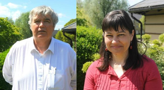 Steve Lydon and Doina Cornell, leader and deputy leader of Stroud District Council