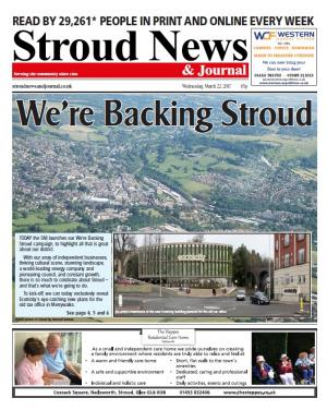 Stroud News and Journal: This week's front page - We're Backing Stroud: The SNJ launches campaign to celebrate all that is…
