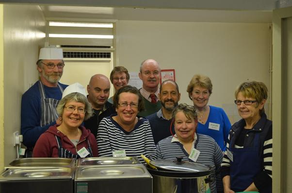 Volunteers at the Marah Trust helping to keep Stroud homeless people fed and sheltered