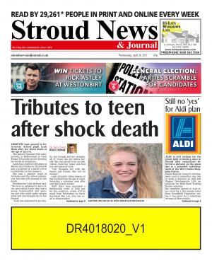 Stroud News and Journal: This week's front page - Tributes to teen after shock death