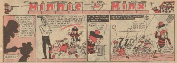 Stroud News and Journal: Minnie the Minx (c) DC Thomson & Co Ltd 2017