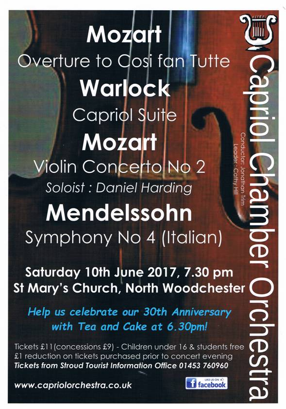 Capriol Orchestra Thirtieth Anniversary Concert