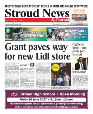 Stroud News and Journal: This week's front page - £3.5 million grant paves way for new Lidl store in Stroud