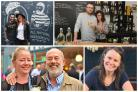 Clockwise: Simpsons fish and chip owners James and Bonnie Ritchie, The Corner House owners Antonio Matarazzo and Rochelle Anselm, Malthouse Collective manager Lindsey Butcher and The Diner owners Tamzin Malleson and Keith Allen